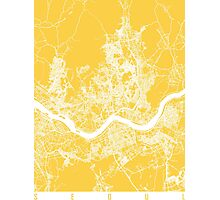 Seoul map yellow Photographic Print