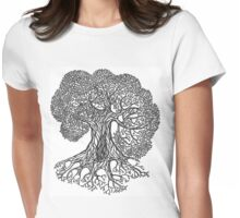 Big Oak Tree Womens Fitted T-Shirt