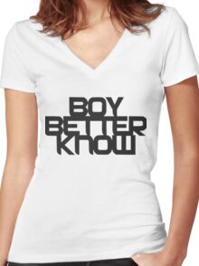 Boy Better Know T- shirt  Women's Fitted V-Neck T-Shirt