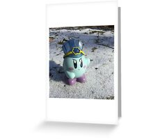 Ice Kirby Cools Off Greeting Card