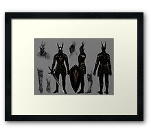 Dark Souls Black Knight Framed Print