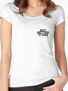 Boy Better Know Smal Logo T- shirt  Women's Fitted Scoop T-Shirt