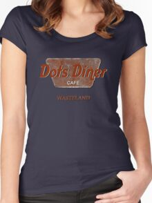 Dots Diner Cafe - Wasteland Women's Fitted Scoop T-Shirt