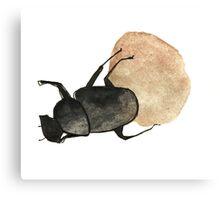 Dung Beetle Cute Funny Random Gift Cool Canvas Print