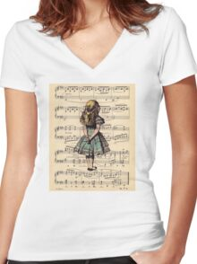 Vintage Women's Fitted V-Neck T-Shirt