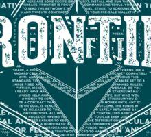 Ethereum Frontier grunge Sticker