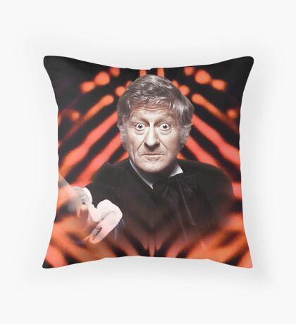 Doctor Who: The Jon Pertwee Years - The Third Doctor  Throw Pillow