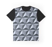 Spaceship Earth - Silver Graphic T-Shirt