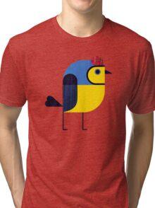 Collared Whitestart Tri-blend T-Shirt