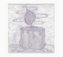 Candle Drawing Baby Tee