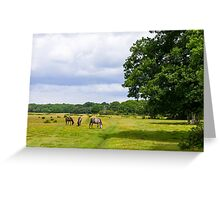Ponies and Trees Greeting Card