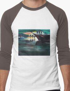 Fishing Line Men's Baseball ¾ T-Shirt
