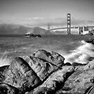 SAN FRANCISCO Baker Beach Monochrom by Melanie Viola