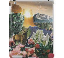 Forest Scene Paper Collage iPad Case/Skin