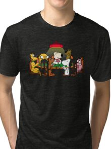 Dogs playing poker Tri-blend T-Shirt