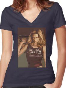 Buffy Season 8 Women's Fitted V-Neck T-Shirt
