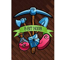 8-Bit Noob Miner Poster ~ Limited Time Only  Photographic Print
