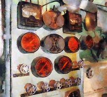 Gauges In Engine Room by Susan Savad
