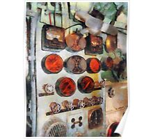 Gauges In Engine Room Poster