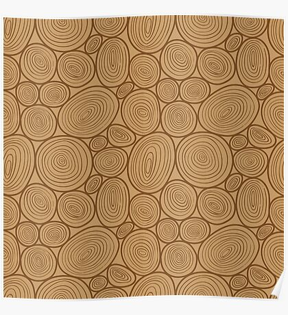 Wooden pattern Poster