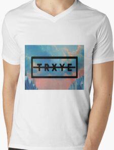 TRXYE Mens V-Neck T-Shirt