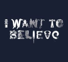 X-Phile: I WANT TO BELIEVE Kids Tee
