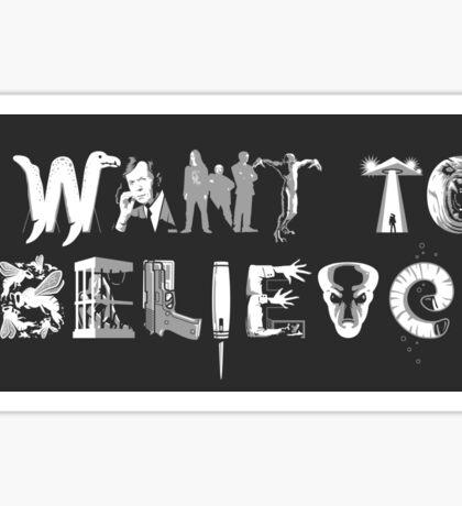 X-Phile: I WANT TO BELIEVE Sticker