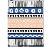 Blue, Pink and Black Ethnic Pattern iPad Case/Skin