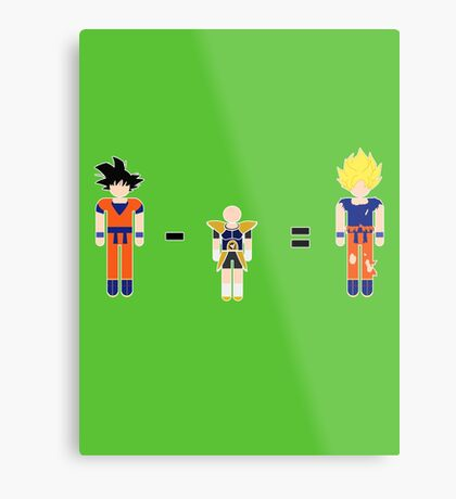 Super Saiyan Math Metal Print