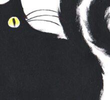 Fat'n'Fluffy Black Cat Sticker
