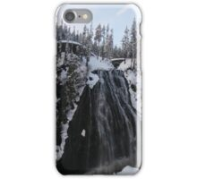 Mt. Rainer Winter waterfall iPhone Case/Skin