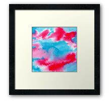 Bright watercolor texture Framed Print