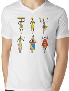 African Culture Mens V-Neck T-Shirt
