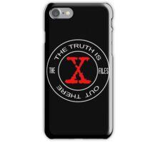 X-Files, red, white, black logo design iPhone Case/Skin