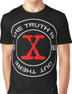 X-Files, red, white, black logo design Graphic T-Shirt