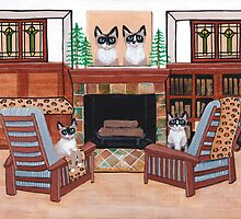 The Snowshoe Siamese Room by Ryan Conners