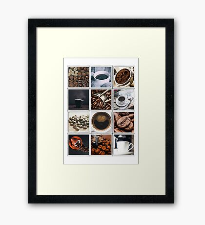 Coffee Poster Framed Print