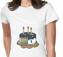 Rainbow Cake Womens Fitted T-Shirt