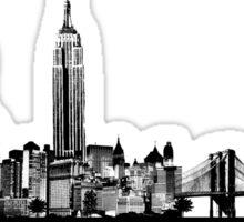 New York City skyline elegant Sticker