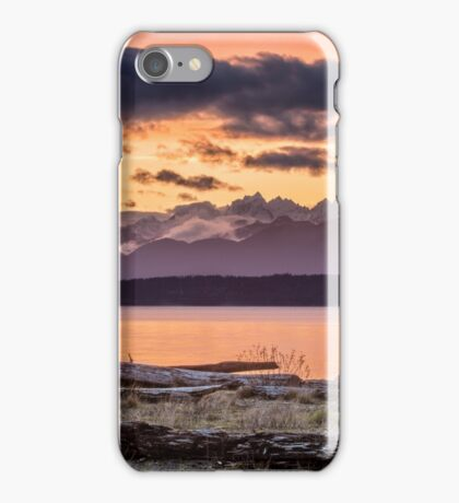 Puget Sound Sunset From Whidbey Island iPhone Case/Skin