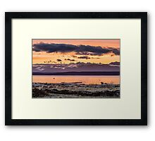 Puget Sound Sunset From Whidbey Island Framed Print