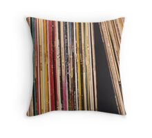 Shelved Vinyl Records Throw Pillow
