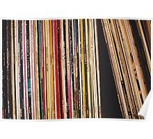 Shelved Vinyl Records Poster