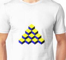 3D Cubic Mosaic Effect Unisex T-Shirt