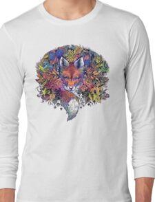 Rainbow Hiding Fox Long Sleeve T-Shirt