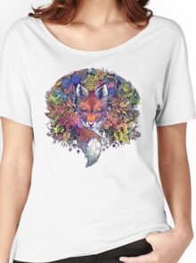 Rainbow Hiding Fox Women's Relaxed Fit T-Shirt