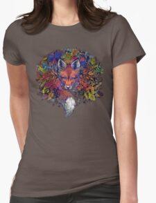 Rainbow Hiding Fox Womens Fitted T-Shirt