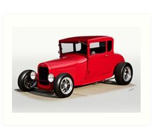 1928 Ford 'Model A' Coupe Art Print