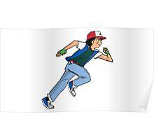 Ash Ketchum Running Poster