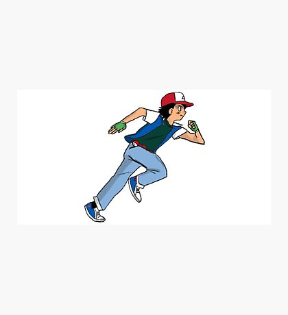Ash Ketchum Running Photographic Print